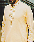 Light Golden Shalwar Kameez