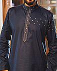 Navy Blue Cotton Suit