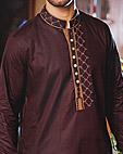 Dark Brown Cotton Suit