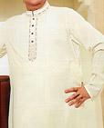 Off-white Cotton Suit