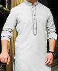 Ash White Cotton Suit