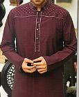 Maroon Cotton Suit
