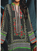 Black Viscose Linen Suit- Pakistani winter dress