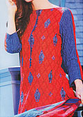 Red/Blue Khaddar Suit