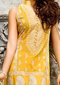 Yellow Cotton Lawn Suit