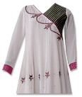 Off-White Georgette Suit- Indian Semi Party Dress