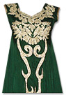 Dark Green Chiffon Suit- Indian Semi Party Dress