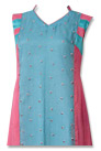 Pink/Turquoise Chiffon Suit  - Indian Dress
