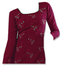 Dark Magenta Georgette Suit- Pakistani Casual Clothes