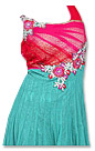 Turquoise/Pink Chiffon Suit- Indian Dress
