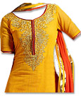 Mustered/Red Georgette Suit- Indian Dress
