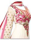Pink/White Chiffon Suit- Indian Semi Party Dress