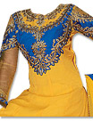 Yellow/Blue Chiffon Suit