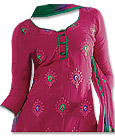 Magenta/Green Georgette Suit