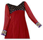 Red/Purple Georgette Suit