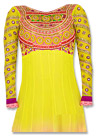 Yellow/Peach Chiffon Suit- Indian Dress