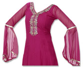 Magenta Chiffon Suit - Indian Dress