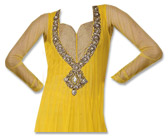 Yellow Chiffon Suit