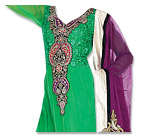 Green/Indigo Chiffon Suit- Indian Semi Party Dress