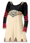 Ivory/Black Georgette Suit - Indian Semi Party Dress