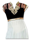 White/Black Chiffon Suit- Indian Semi Party Dress