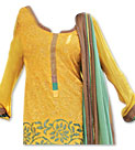Mustered/Green Georgette Suit