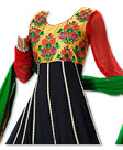 Black/Red Georgette Suit - Indian Dress