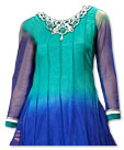Blue/Aqua Chiffon Suit- Indian Semi Party Dress