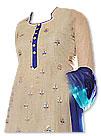 Beige/Blue Chiffon Suit