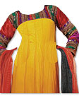 Yellow/Red Chiffon Suit