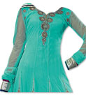Sea Green Chiffon Suit
