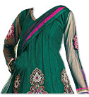 Teal Green Chiffon Suit - Indian Dress