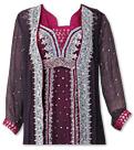 Purple/Magenta Crinkle Chiffon Suit