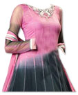 Black/Tea Pink Chiffon Suit- Indian Dress