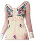 Ivory/Peach Chiffon Suit- Indian Dress