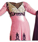 Pink/Purple Georgette Suit- Indian Semi Party Dress