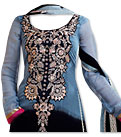 Blue/Black Chiffon Suit- Indian Semi Party Dress