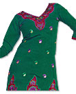 Green/Pink Georgette Suit- Pakistani Casual Dress