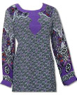 Purple/Green Georgette Kurti