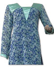Blue/Sea Green Chiffon Kurti