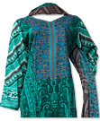 Green Khaddar Suit- Pakistani Casual Dress