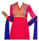 Hot Pink/Blue Georgette Suit- Indian Semi Party Dress