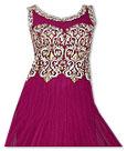 Dark Purple Chiffon Suit- Indian Semi Party Dress