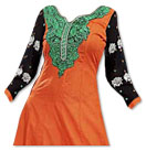Orange/Green/Black Georgette Suit