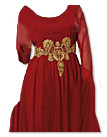 Deep Red Chiffon Suit- Pakistani party wear