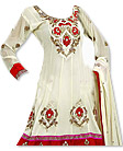 White/Red Georgette Suit- Indian Semi Party Dress