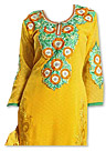 Yellow Georgette Suit- Indian Semi Party Dress