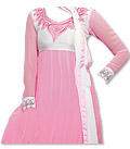 Baby Pink Chiffon Suit- Indian Semi Party Dress