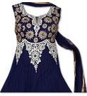 Navy Blue Chiffon Suit- Indian Semi Party Dress