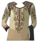 Beige/Black Georgette Suit